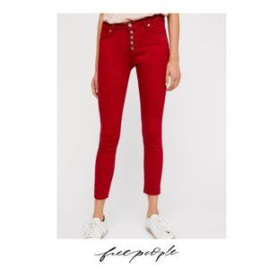 Free People | Reagan Button Front Skinny Jeans